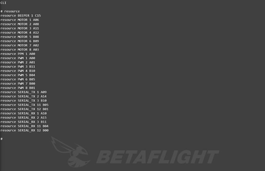 Переназначение выходов на моторы в BetaFlight и других портов