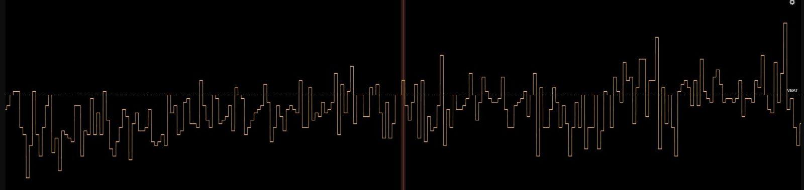 Напряжение аккумулятора, записанное в блекбоксе