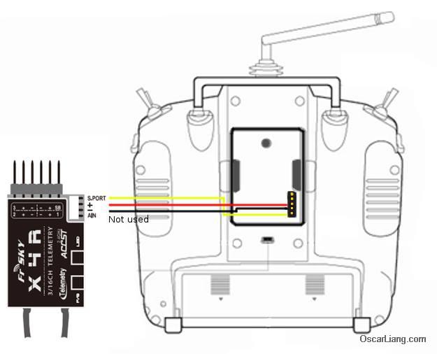 Пример подключения для X4R-SB.