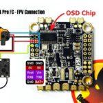 как подсоединить камеры и передатчик к полетному контроллеруDYS F4 Pro FC