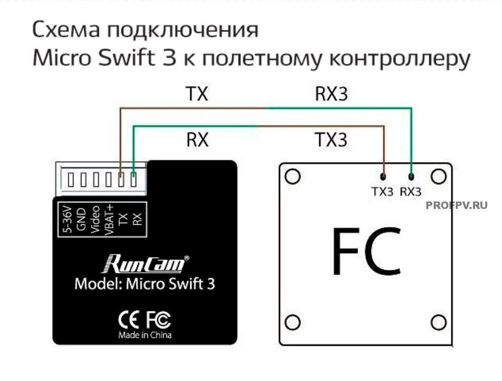 Схема подключения Swift 3 к полетному контроллеру