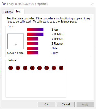 Как подключить Taranis и FlySky к Windows 10 и симулятору