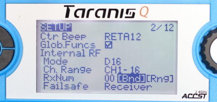 Holybro Kopis 2 SE настройки в Таранис