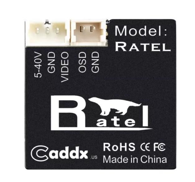 Caddx Ratel Starlight (звездный путь), FPV камера для ночных полетов вид сзади