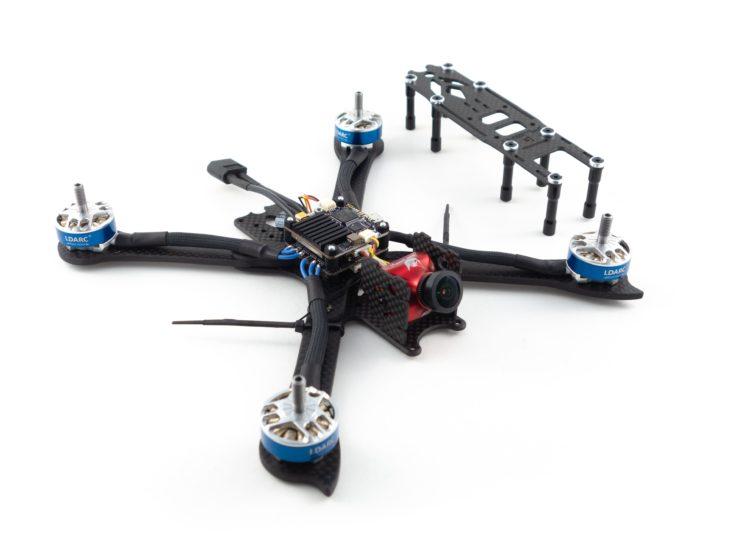 Гоночный квадрокоптер своими руками, на раме iFlight XL5 V3 с установленными компонентами 3