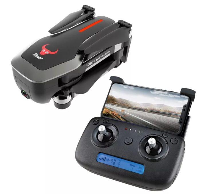 ZLRC Beast SG906, квадрокоптер с камерой 4К и GPS, с пультом - черного цвета