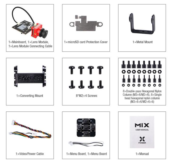 Foxeer MIX 2 FPV камера с видеозаписью