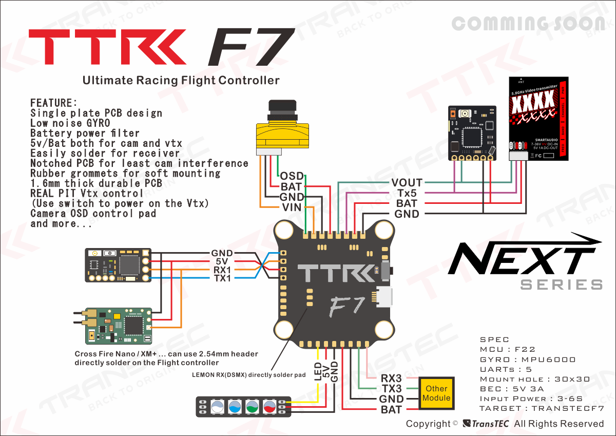 TransTEC F7 - полетный контроллер