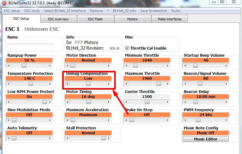 Параметры BlHeli_32 (BlHeliSuite32) - расшифровка и определения для гоночного квадрокоптера