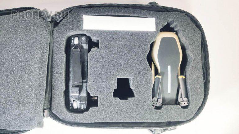Дрон и пульт в сумке