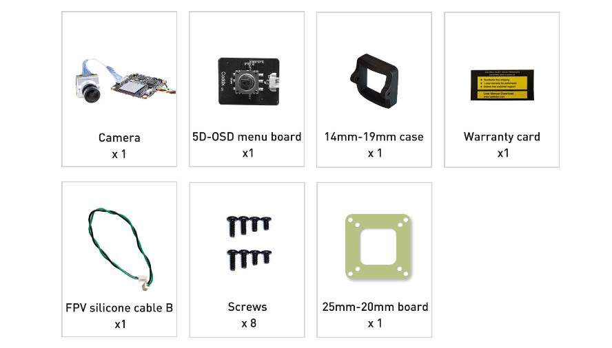 Caddx Loris 4K цифровая FPV камера - комплект