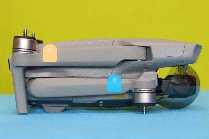 Обзор Mavic Air 2 - вид сбоку, маркировка