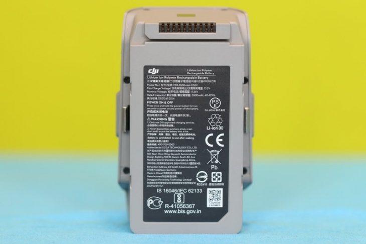 Обзор Mavic Air 2 - аккумулятор снизу