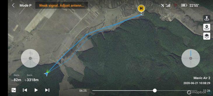 Обзор Mavic Air 2 - тест дальности полета