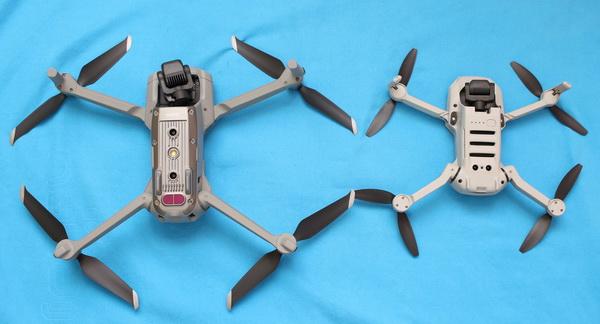 Mavic Air 2 и Mavic Mini: сравнение вид снизу