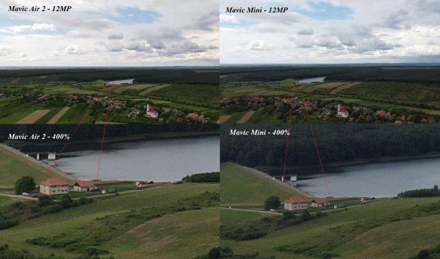 Mavic Air 2 и Mavic Mini: сравнение картинки с камеры