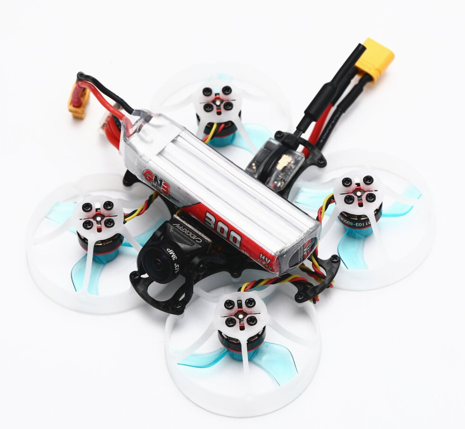 С аккумулятором - Микро дрон FullSpeed TinyPusher на раме 75 мм CineWhoop