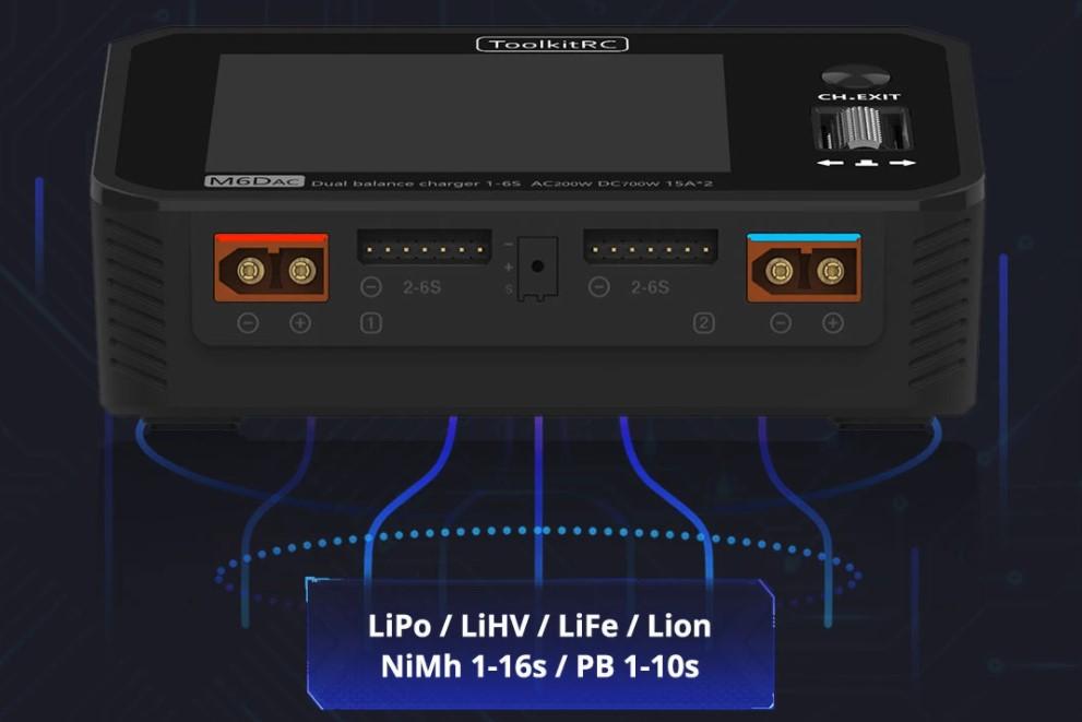 ToolkitRC M6DAC зарядное устройство AC/DC